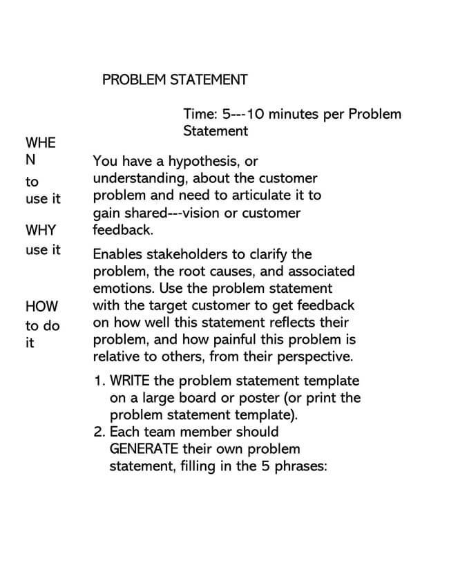 Problem Statement Template 02