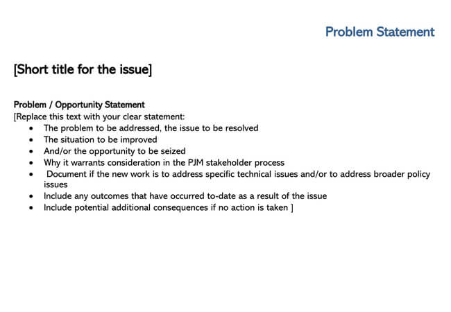 Problem Statement Template 05