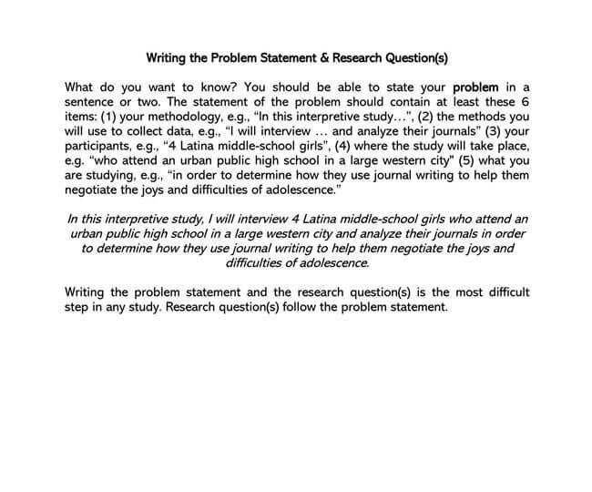 Problem Statement Template 10