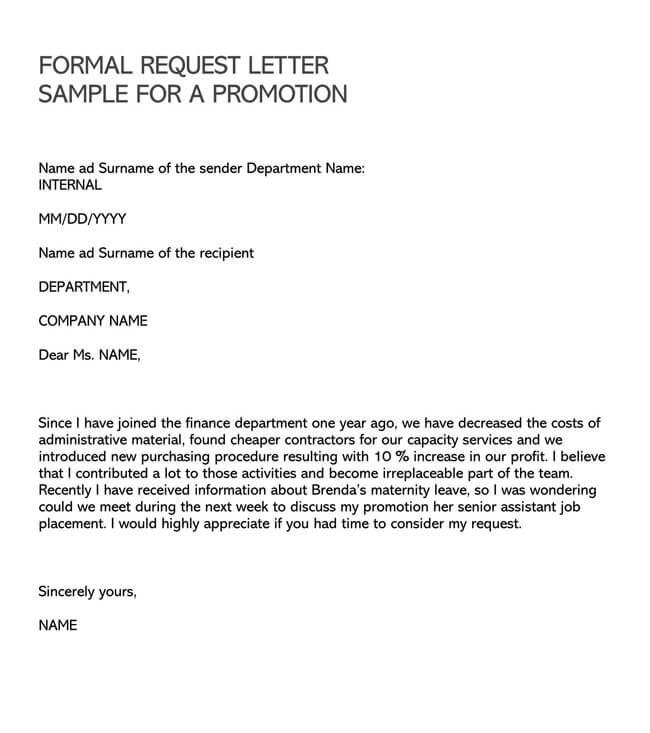 Promotion Request Letter 05
