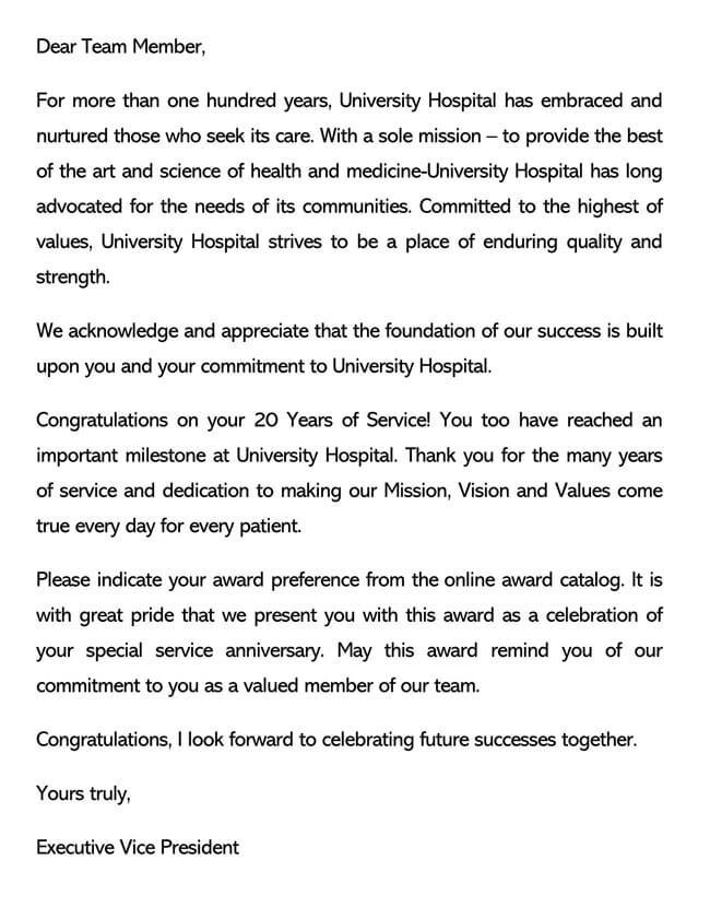 Recognition Letter for Dedication 03