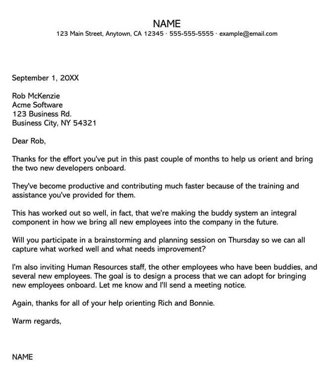 Recognition Letter for Good Presentation
