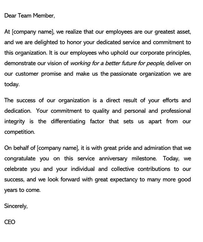 Recognition Letter for Upholding Principles