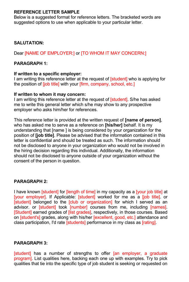 Recommendation Letter From Manager Template 14