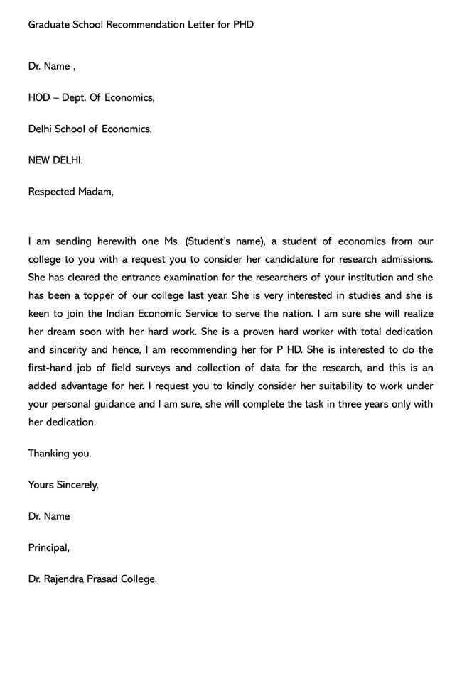 Recommendation Letter From Teacher Template 04