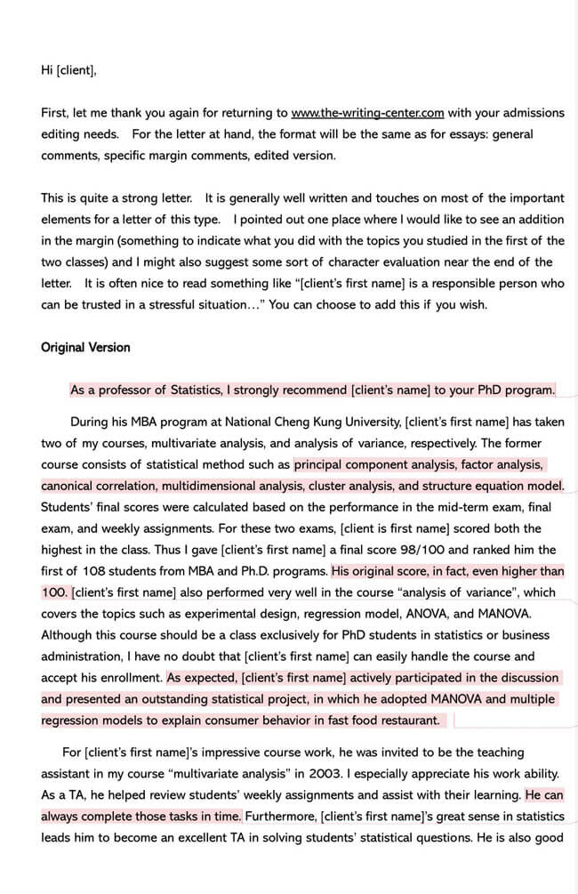 Recommendation Letter From Teacher Template 10