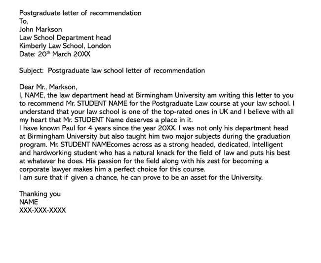 Recommendation Letter From Teacher Template 17