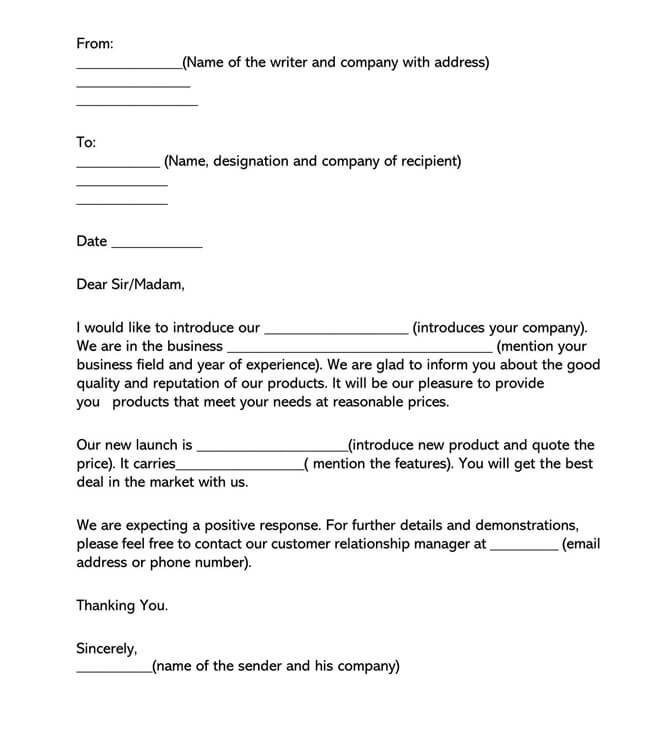Sales Letter Template 01