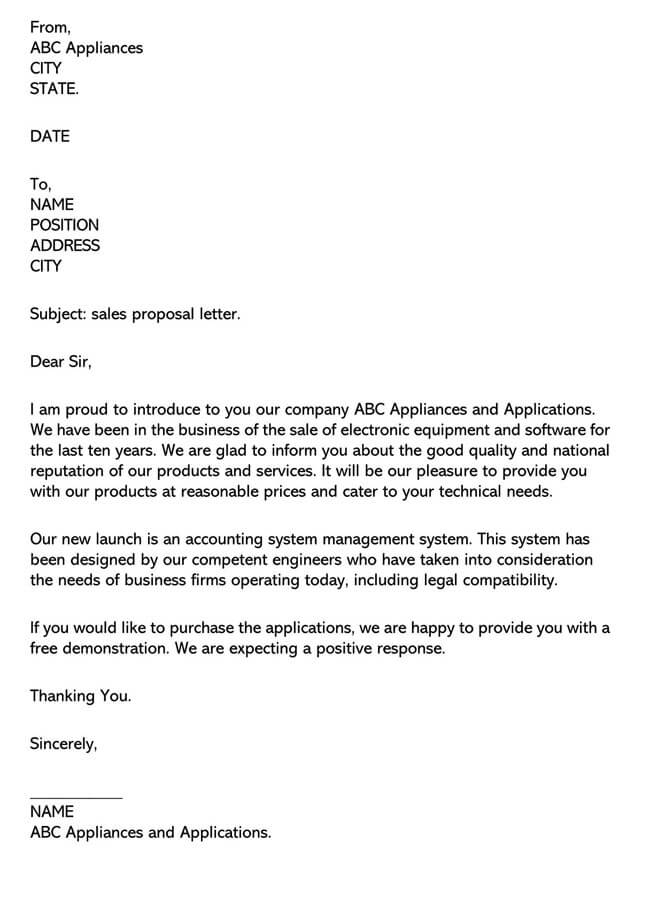 Sales Letter Template 04