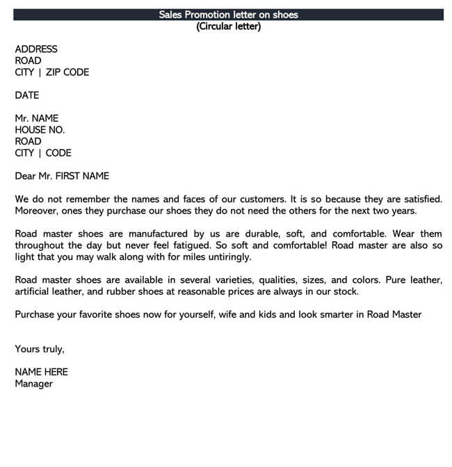 Sales Letter Template 06