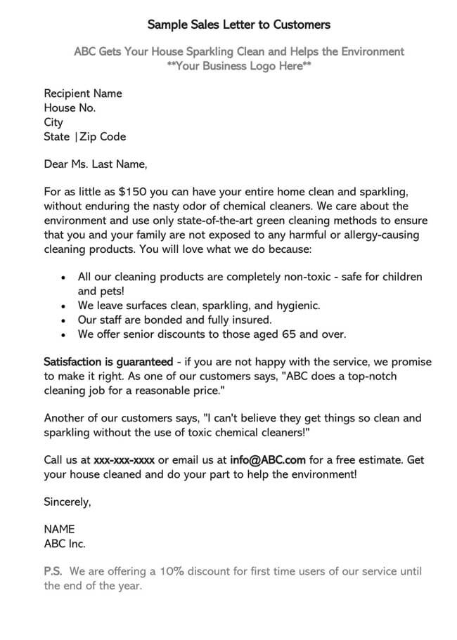 Sales Letter Template 08