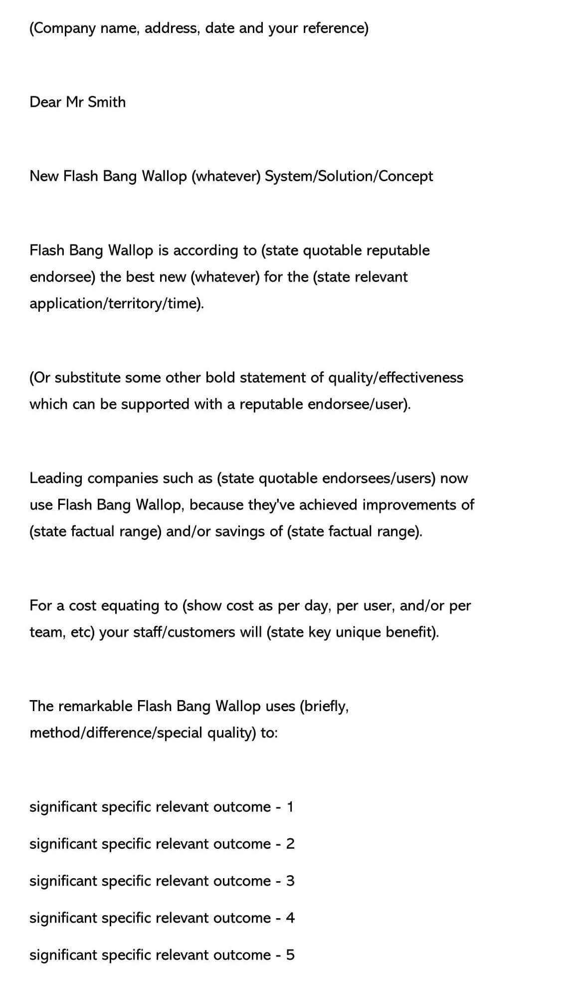 Sales Letter Template 16