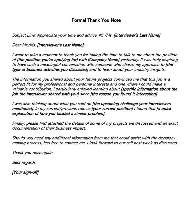 Thank You Email After Interview 01