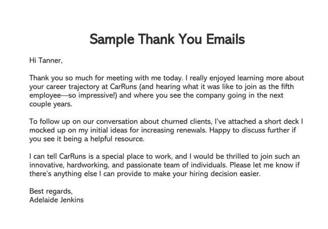 Thank You Email After Interview 05