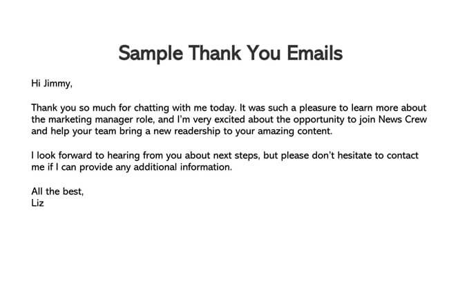 Thank You Email After Interview 06