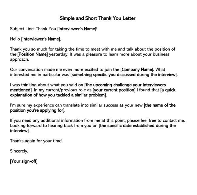 Thank You Email After Interview 08