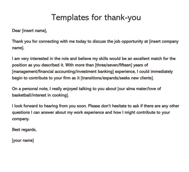 Thank You Email After Interview 09