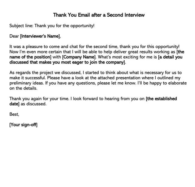 Thank You Email After Interview 10