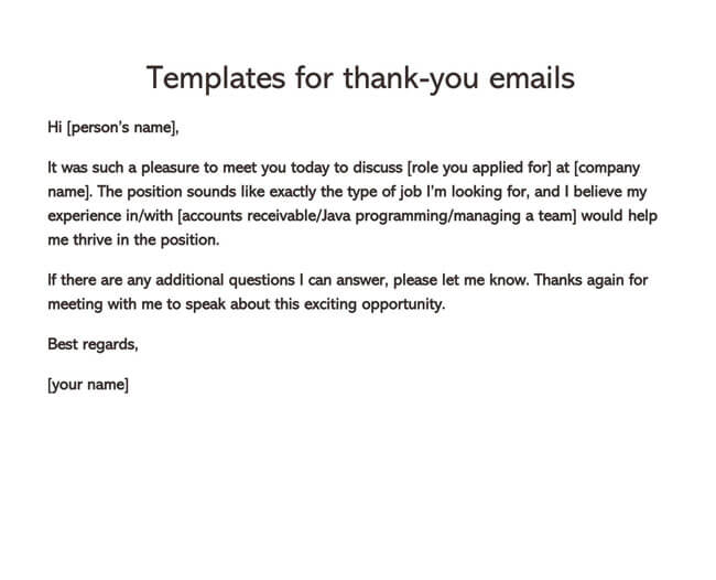 Thank You Email After Interview 11