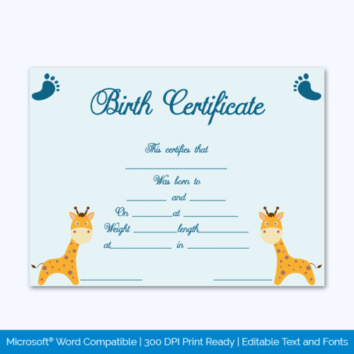 Pet Birth Certificate Free