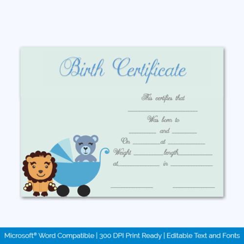 Animal Birth Certificate Free