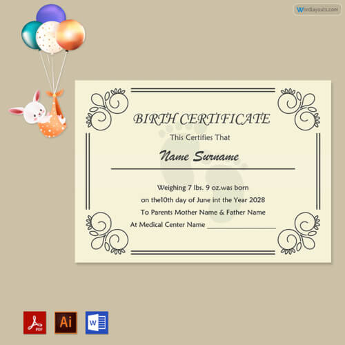 Birth Certificate Template Free Example