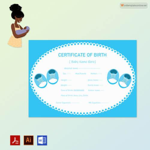 Free Baby Boy Birth Certificate