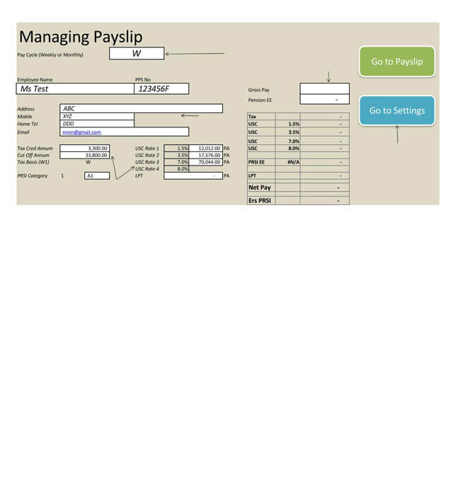 Small Business Payroll Template 02