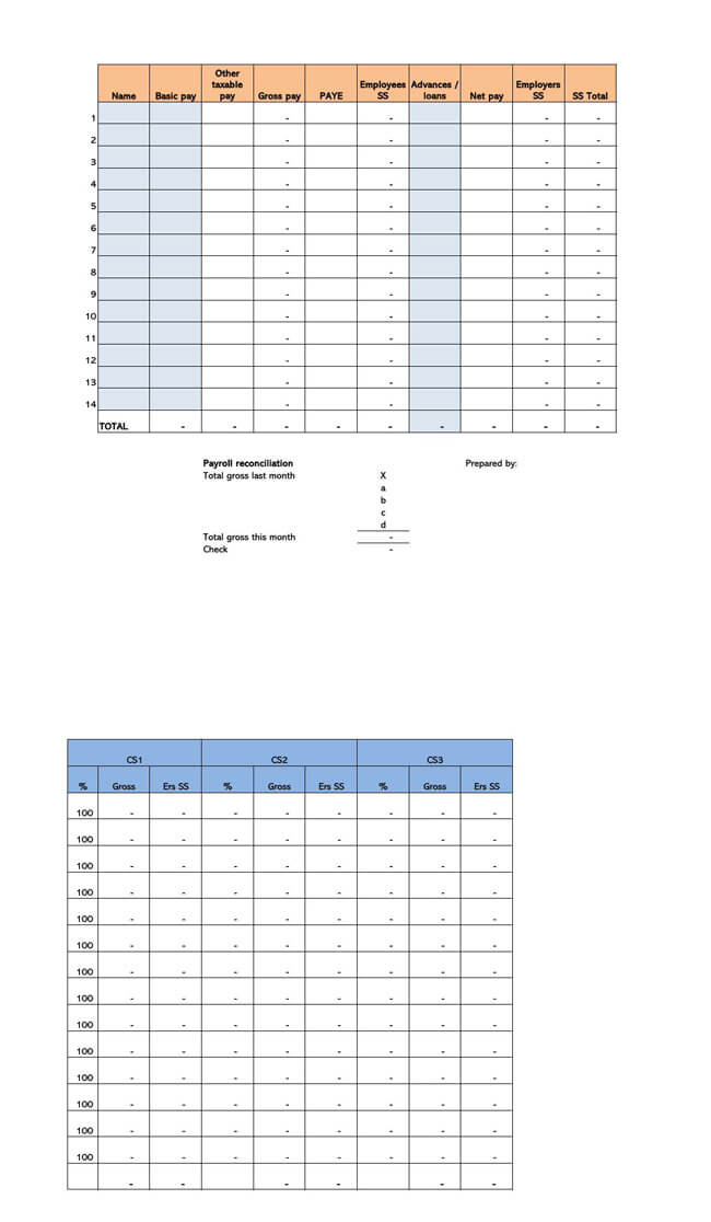 Small Business Payroll Template 11