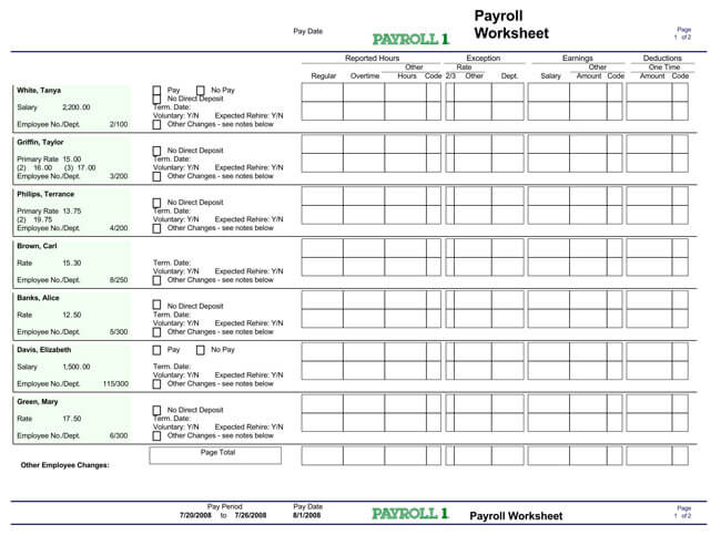 Small Business Payroll Template 14