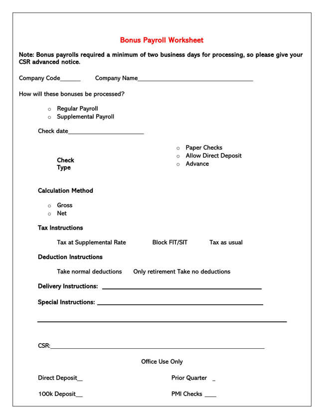 Small Business Payroll Template 17