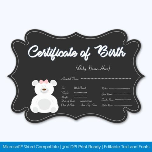 Birth Certificate Free PSD