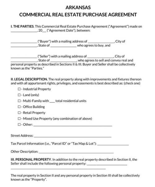 Arkansas-Commercial-Real-Estate-Purchase-Agreement_