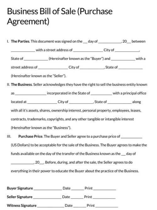 Business-bill-of-sale-Purchase-Agreement_