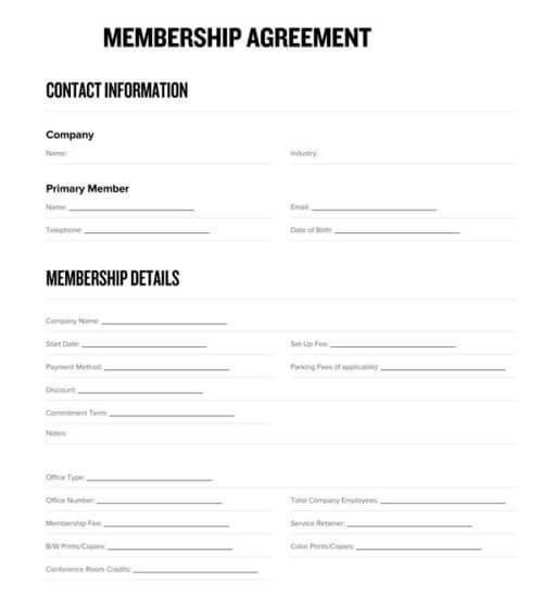 Co-Working-Membership-Agreement