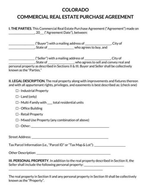 Colorado-Commercial-Real-Estate-Purchase-Agreement_
