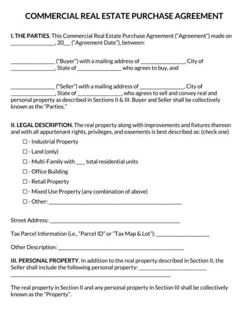 Commercial-Real-Estate-Purchase-Agreement