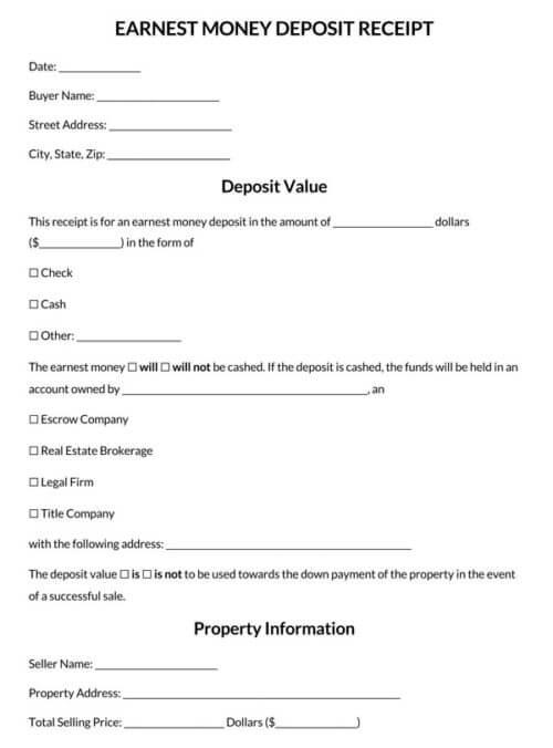 Earnest-Money-Deposit-Receipt-Template_