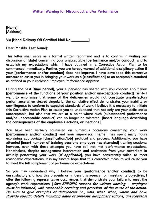 Employee Warning Notice Template 07