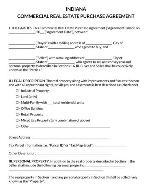 Indiana-Commercial-Real-Estate-Purchase-Agreement_