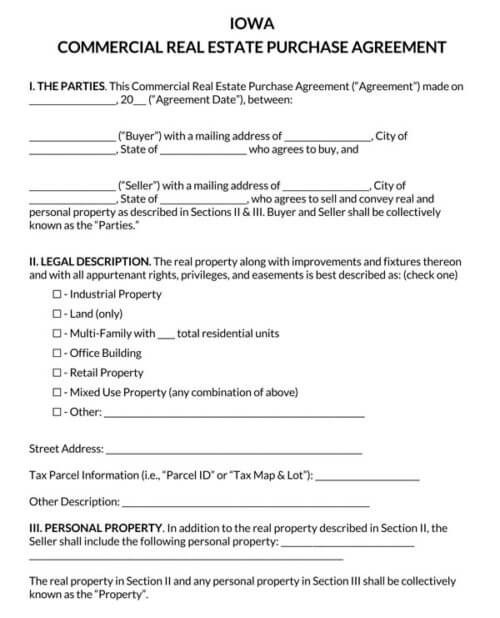 Iowa-Commercial-Real-Estate-Purchase-Agreement_