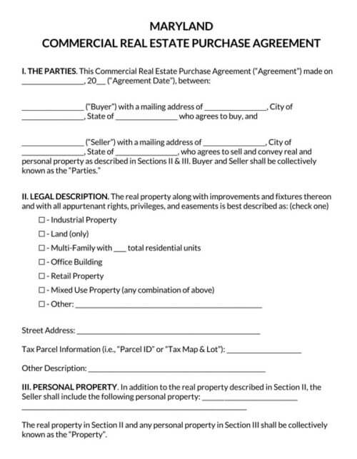Maryland-Commercial-Real-Estate-Purchase-Agreement_