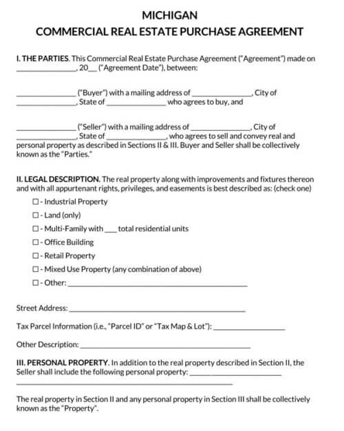 Michigan-Commercial-Real-Estate-Purchase-Agreement_