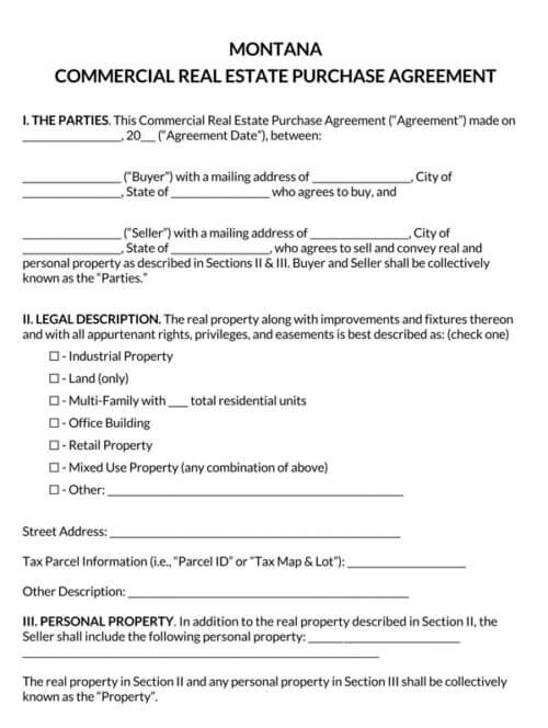 Montana-Commercial-Real-Estate-Purchase-Agreement_