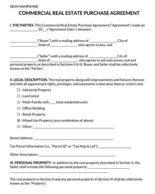 New-Hampshire-Commercial-Real-Estate-Purchase-Agreement_
