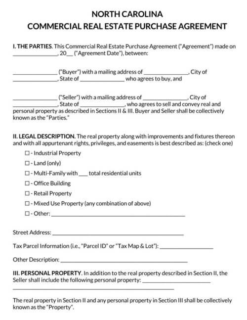 North-Carolina-Commercial-Real-Estate-Purchase-Agreement_