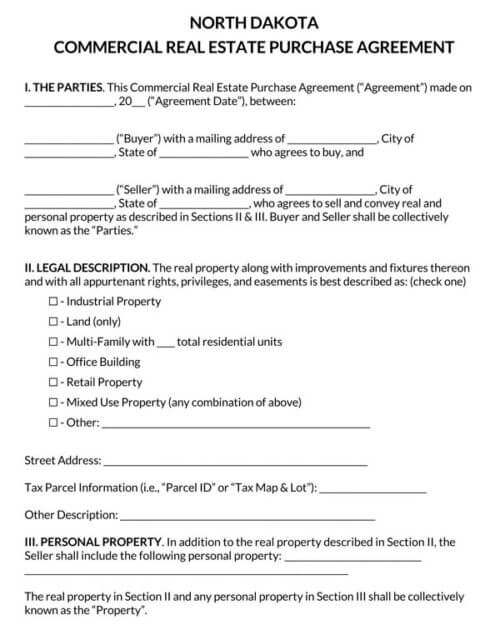 North-Dakota-Commercial-Real-Estate-Purchase-Agreement_