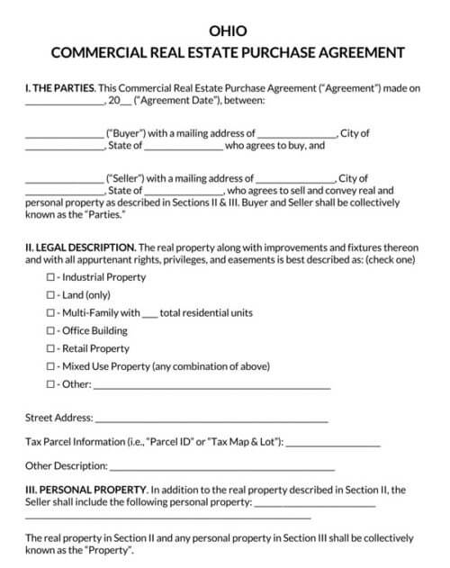 Ohio-Commercial-Real-Estate-Purchase-Agreement