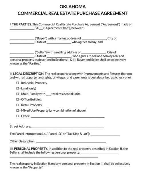 Oklahoma-Commercial-Real-Estate-Purchase-Agreement_