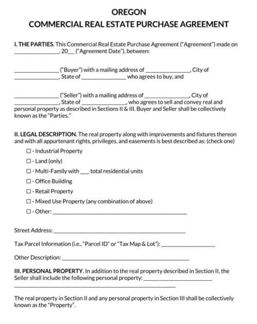 Oregon-Commercial-Real-Estate-Purchase-Agreement_